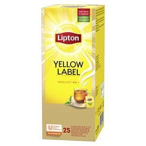 Lipton Yellow Label Чай чорний 25 пакетиків в сашетах -